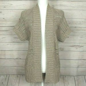 Loft Open Front Short Sleeved Knit Cardigan 262